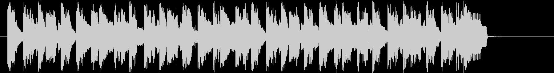 ピコピコ音の10秒ほどの短い曲です。の未再生の波形