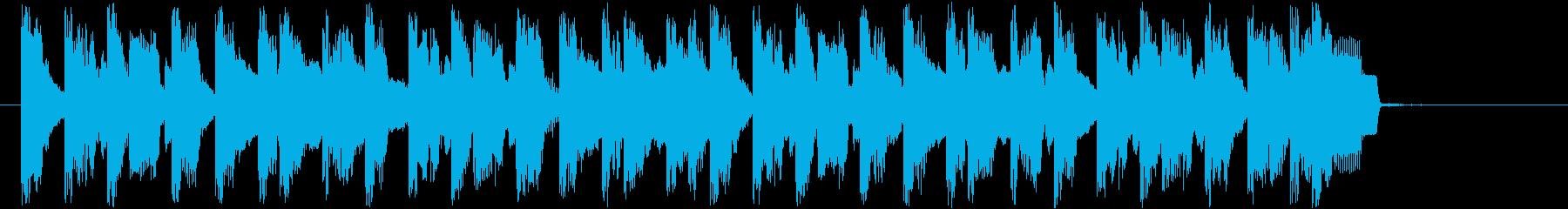 ピコピコ音の10秒ほどの短い曲です。の再生済みの波形