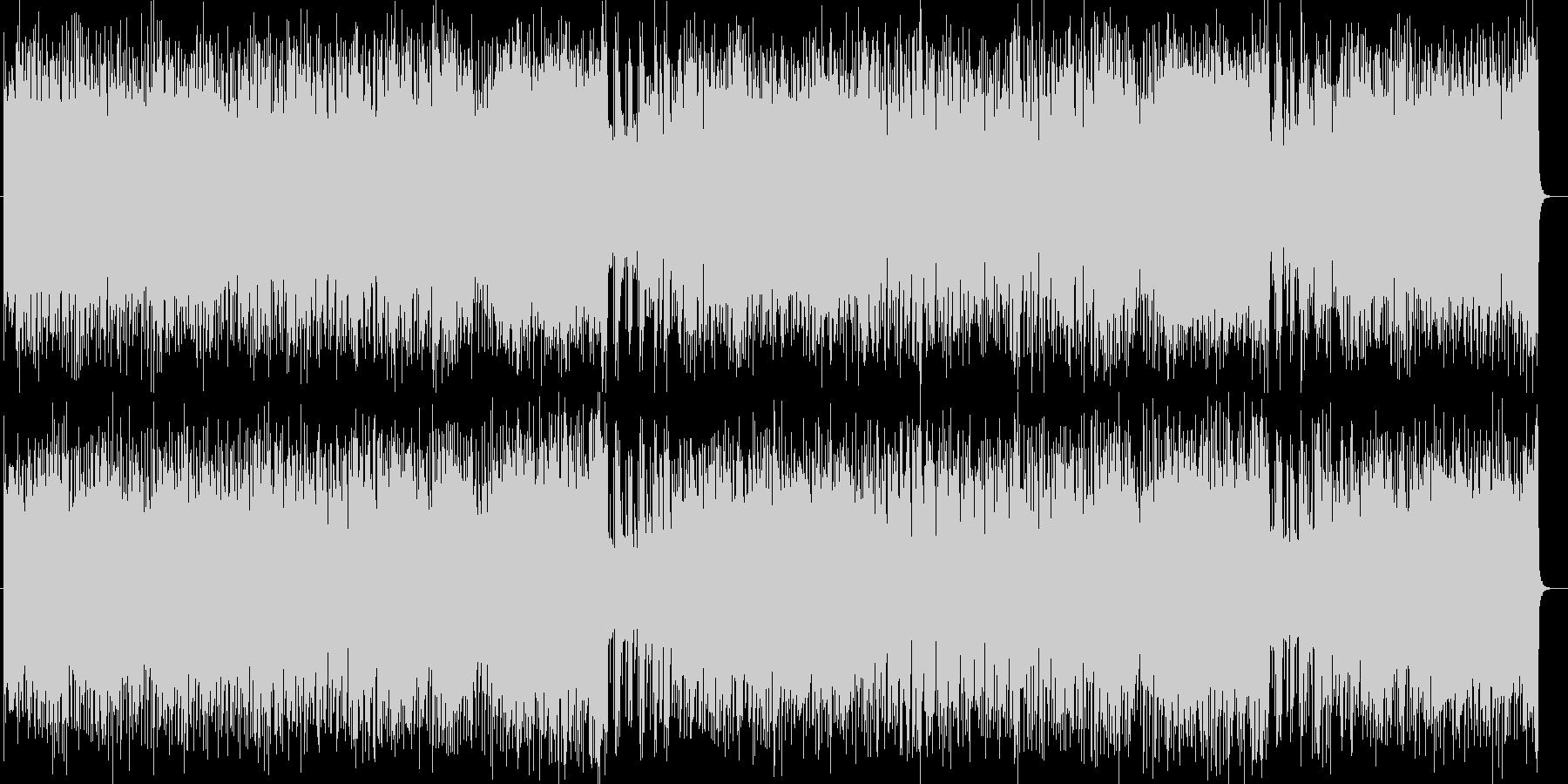 わくわくする爽快なPOPミュージックの未再生の波形