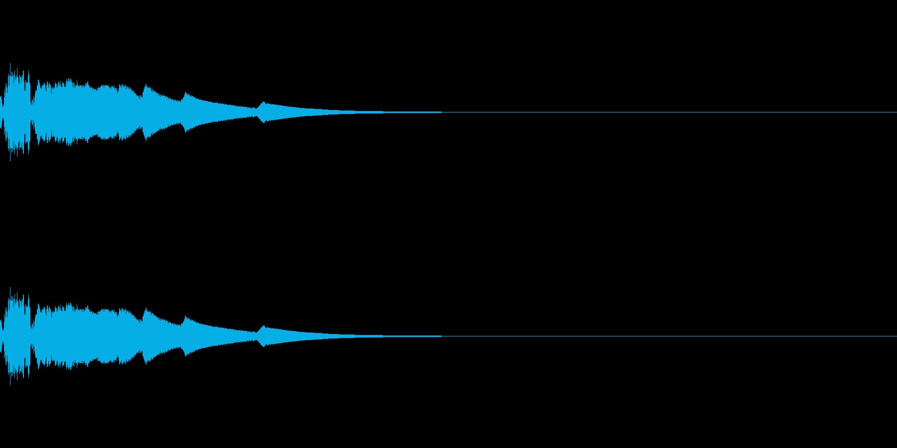 ショット系のサウンドの再生済みの波形