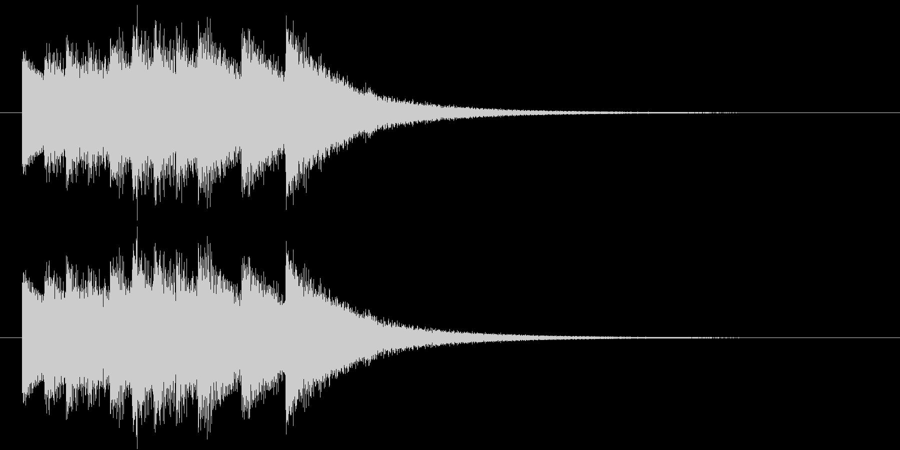 鐘(合格ドシラソドシラソドミレ)の未再生の波形