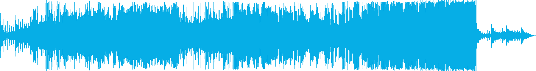 「挑戦者」をイメージしたEDM・ロック調の再生済みの波形