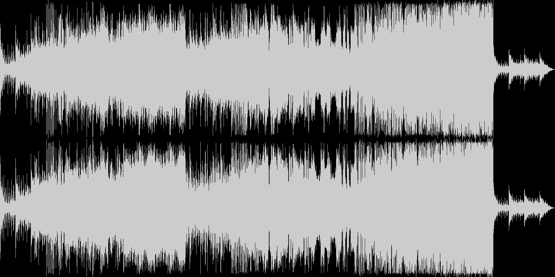 「挑戦者」をイメージしたEDM・ロック調の未再生の波形