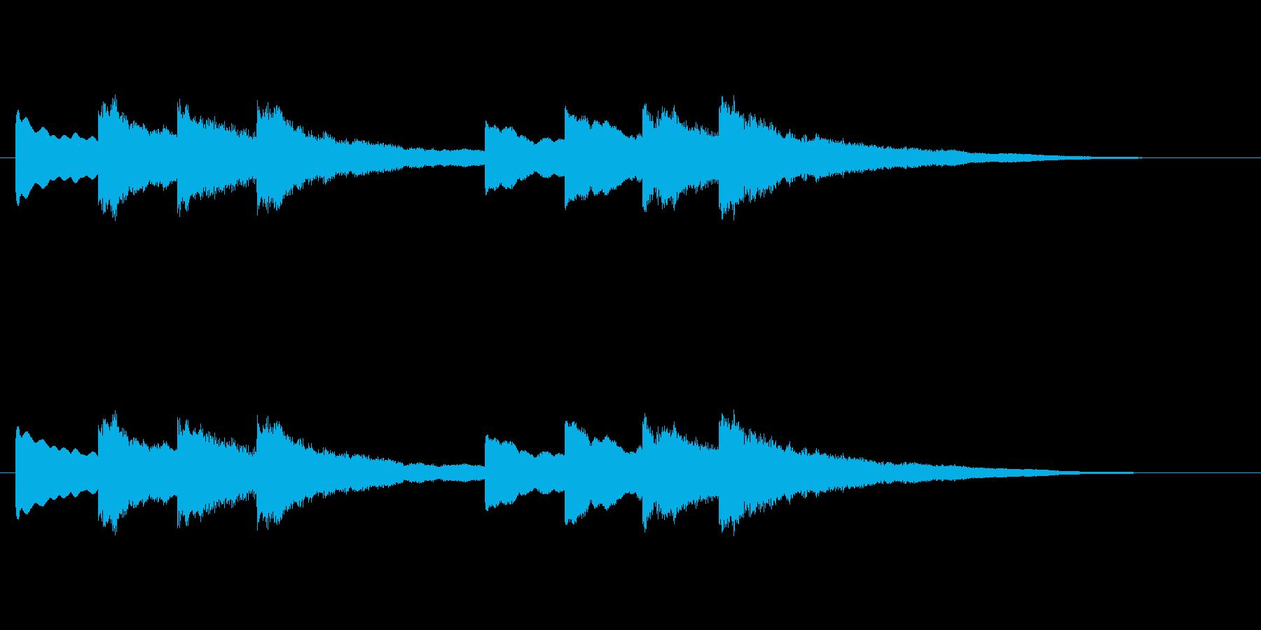 【チャイム 学校02-02】の再生済みの波形