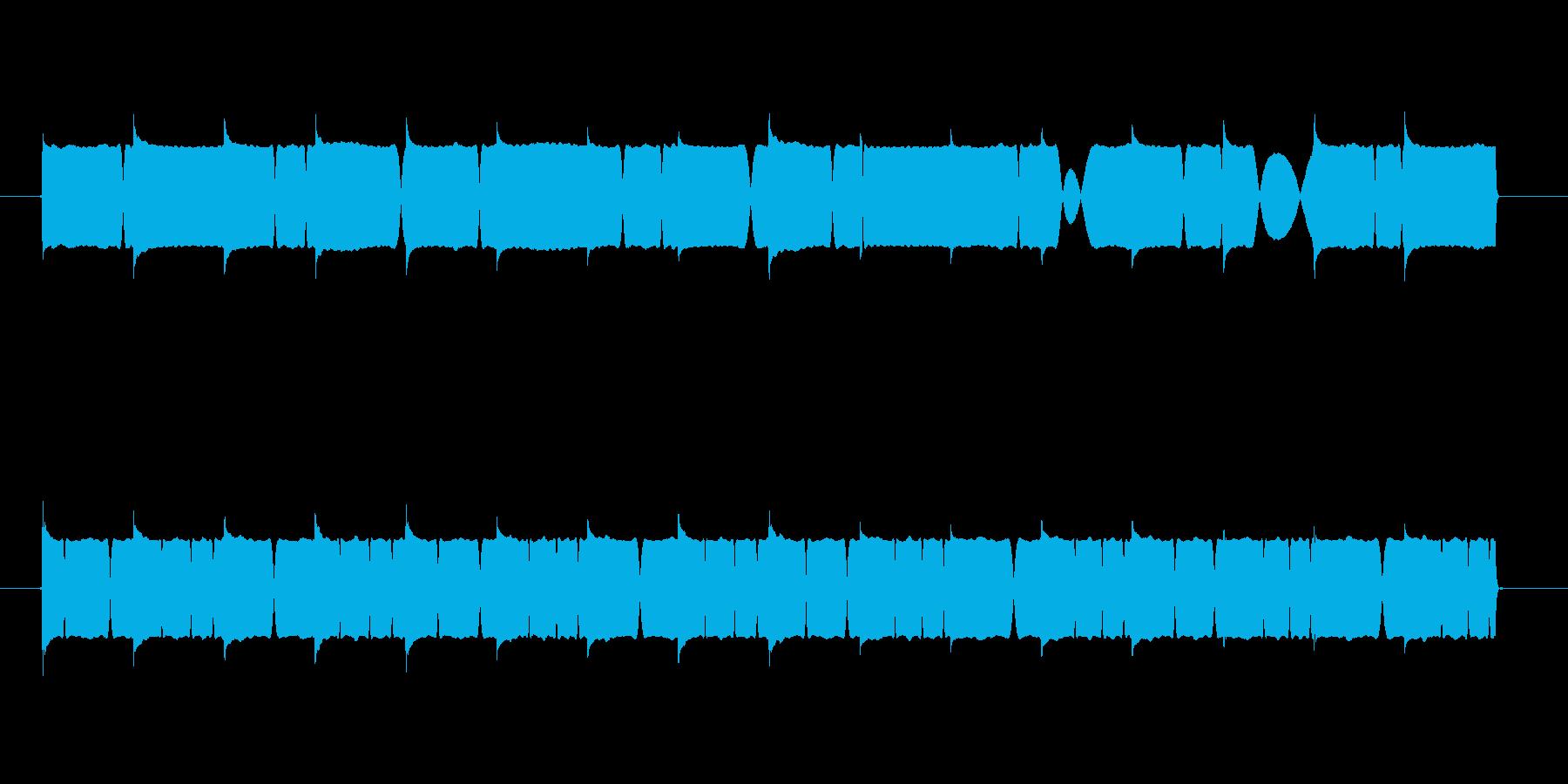 電子音系サイレンの再生済みの波形