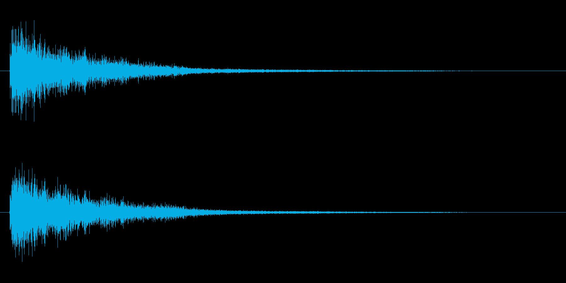 ショック ぶつかる ドカーン 事故 命中の再生済みの波形