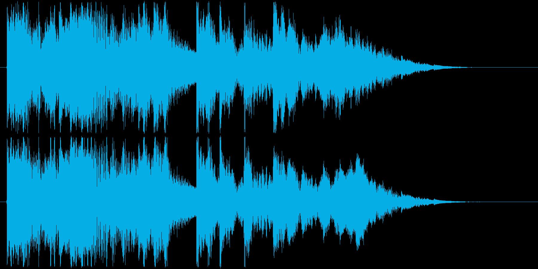 和太鼓と三味線の力強い和風ジングルの再生済みの波形