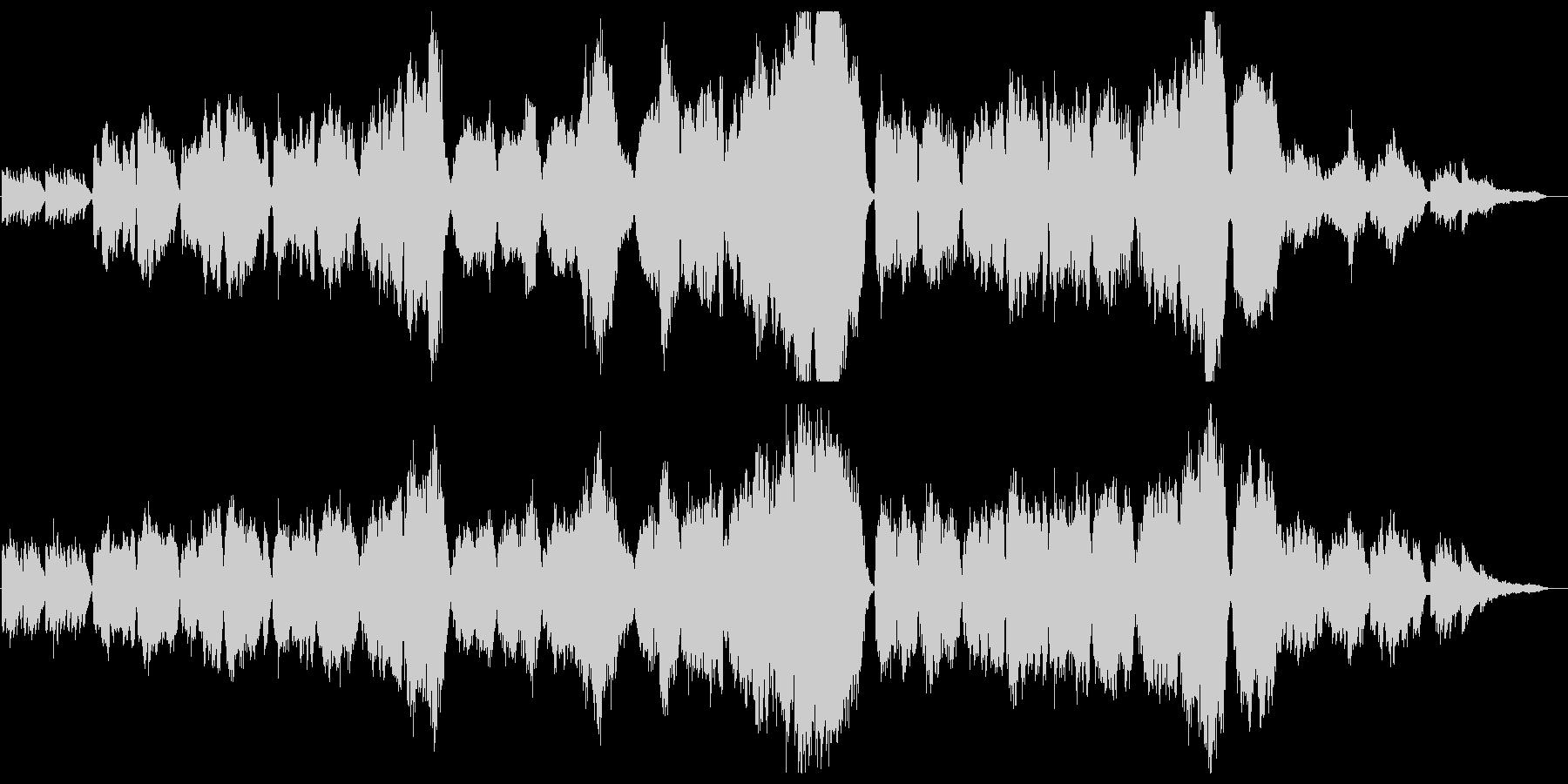 琴と尺八、弦楽合奏によるバラードの未再生の波形