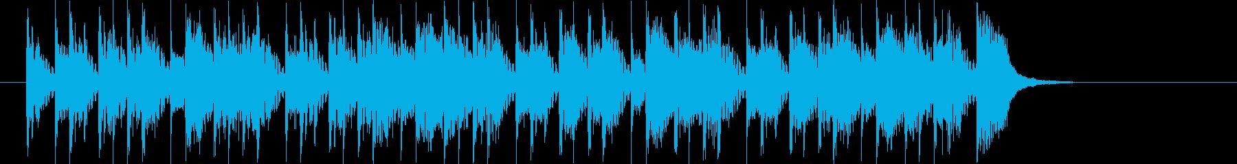 シンセベースやドラムが80年代風の楽曲の再生済みの波形