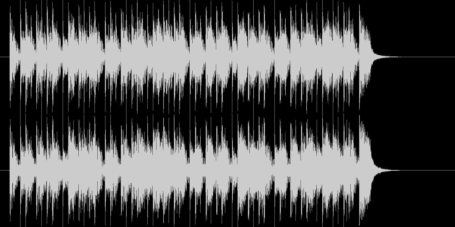 シンセベースやドラムが80年代風の楽曲の未再生の波形