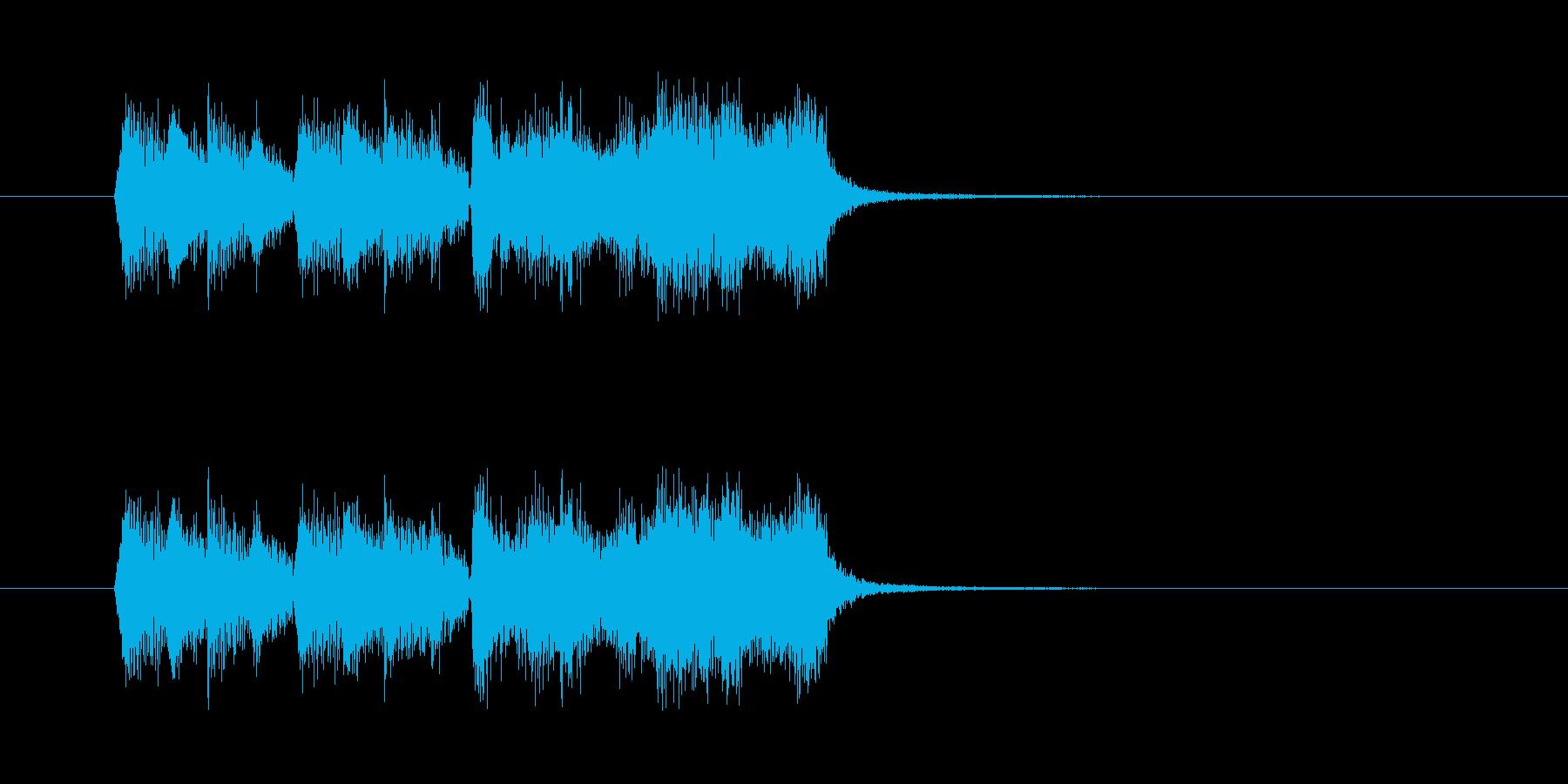 ひょうきんなオーケストラBGMの再生済みの波形