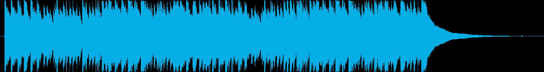 ハープシコードのBGMの再生済みの波形