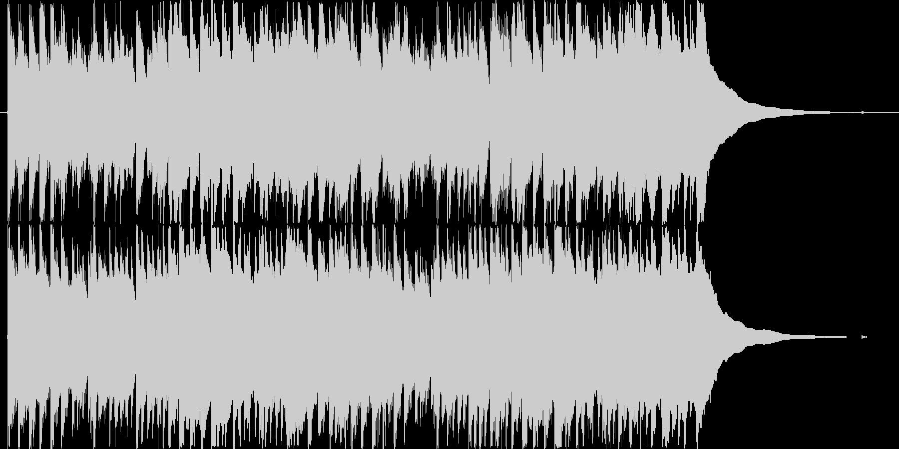 ハープシコードのBGMの未再生の波形