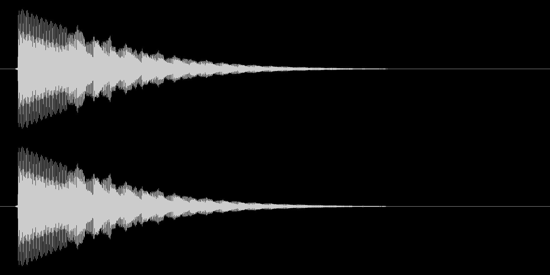 ぴこん/矢印/地図表示の未再生の波形