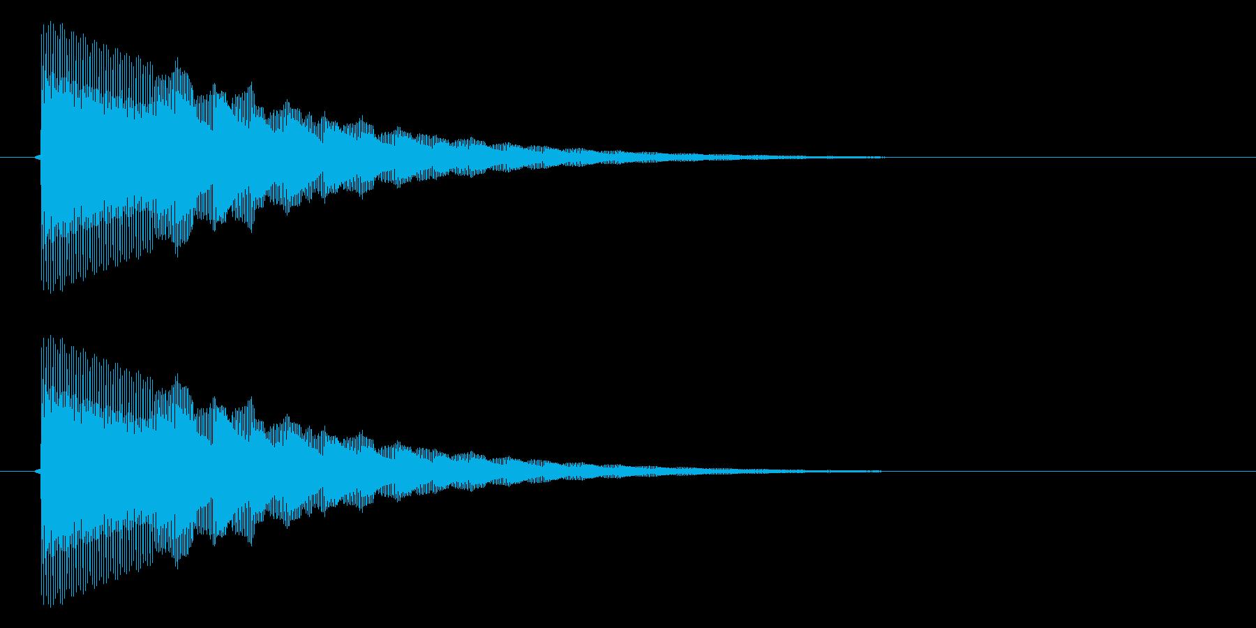 ぴこん/矢印/地図表示の再生済みの波形