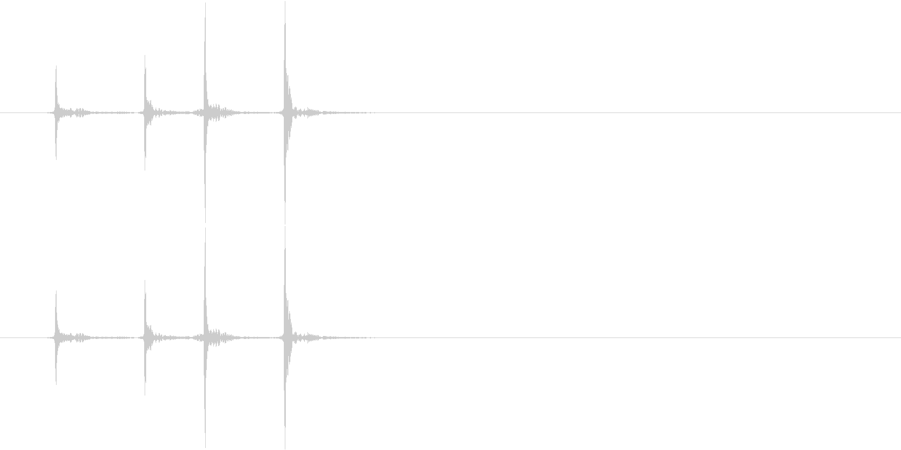 ダブルクリックの音です。の未再生の波形