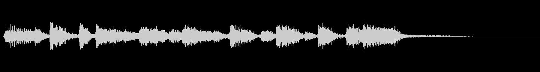 企業ロゴ表示用サウンドロゴ3 ピアノのみの未再生の波形