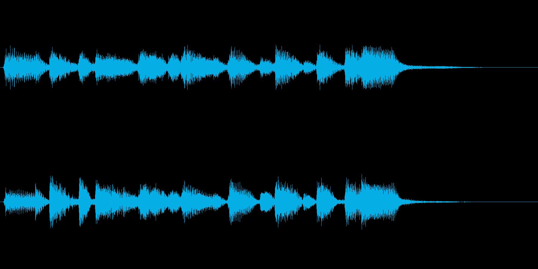 企業ロゴ表示用サウンドロゴ3 ピアノのみの再生済みの波形