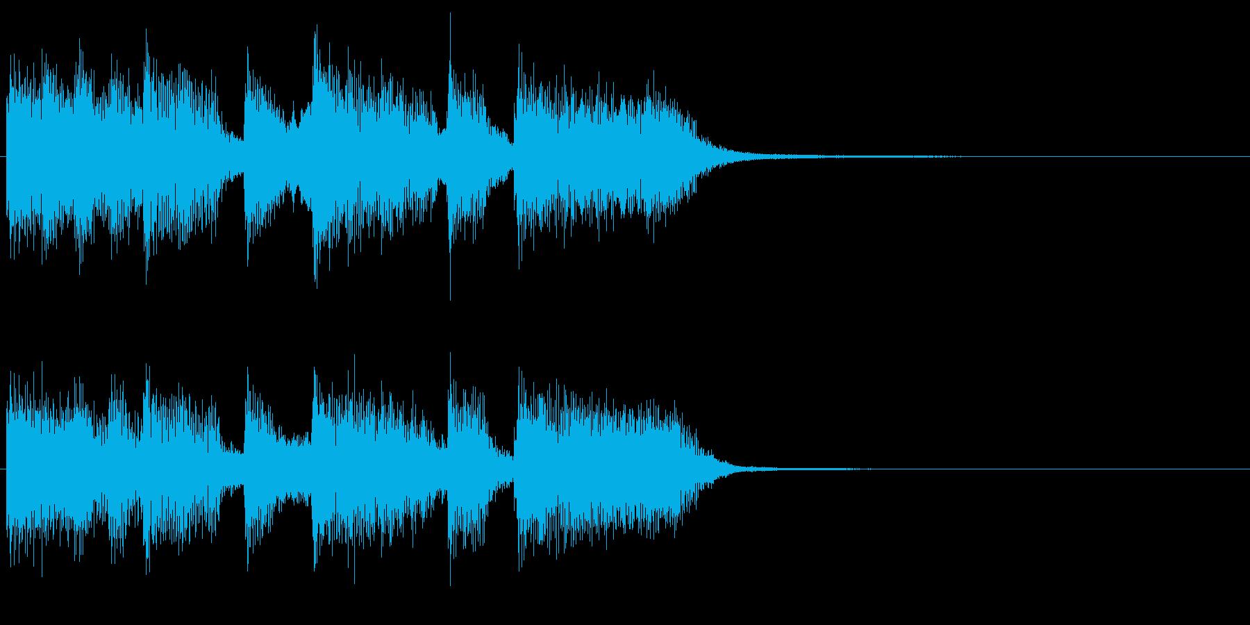 アイドルをイメージしたジングル 4小節Bの再生済みの波形