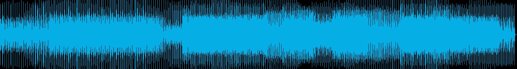 細かい音のミニマルテクノの再生済みの波形