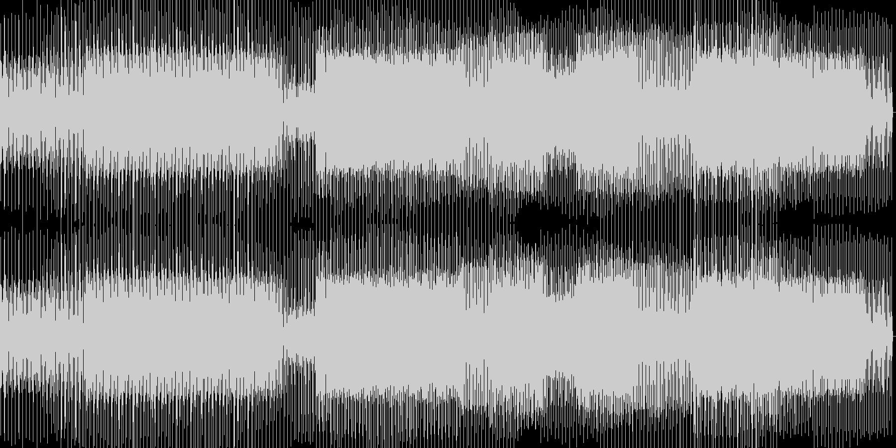 細かい音のミニマルテクノの未再生の波形