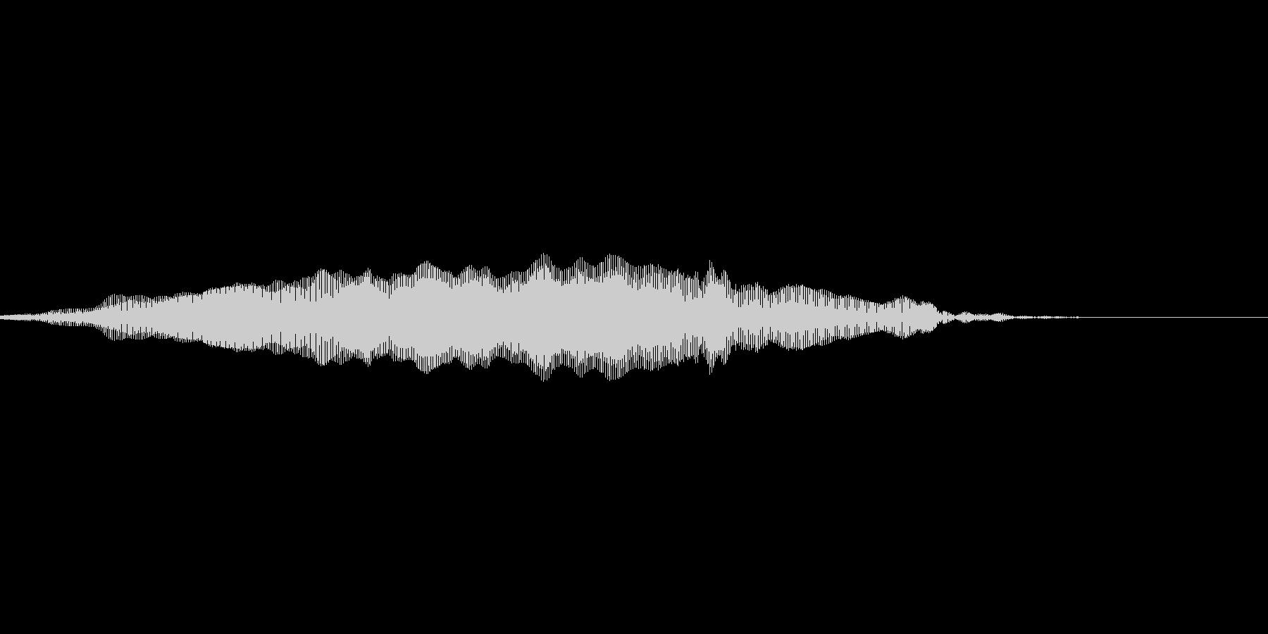 猫の鳴き声3の未再生の波形