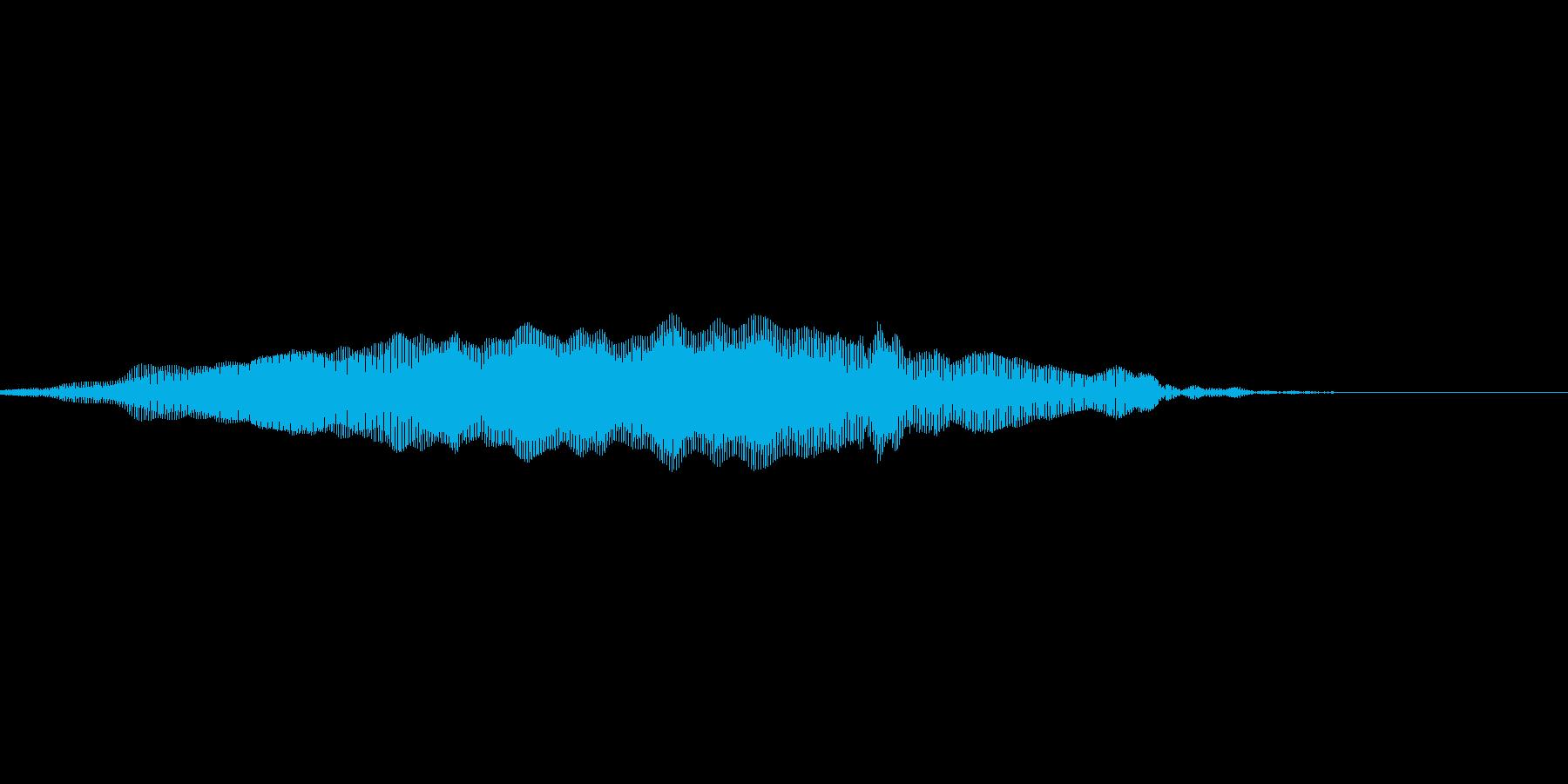 猫の鳴き声3の再生済みの波形
