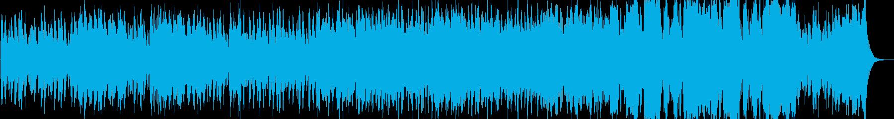 威圧感のある軍隊的なオーケストラ曲の再生済みの波形