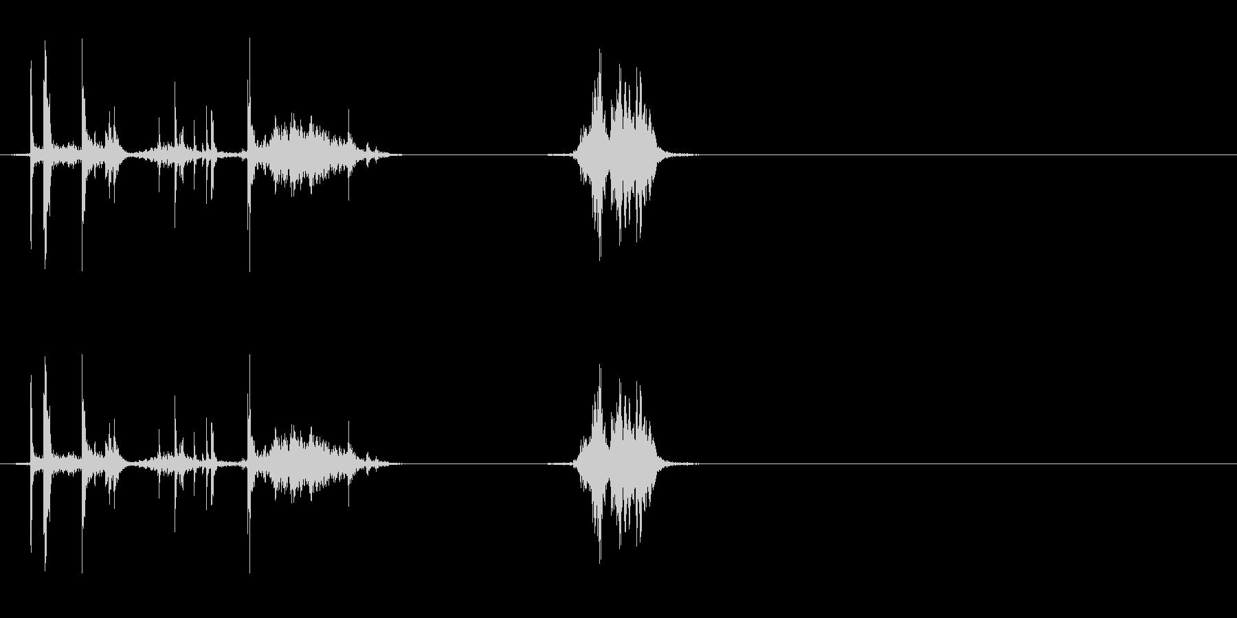 ウイスキーキャップ(閉める音)の未再生の波形