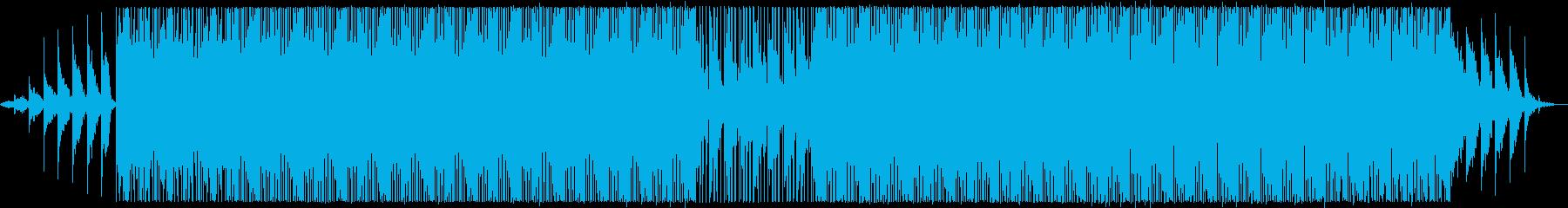 ムードある夜のテクノトラックの再生済みの波形