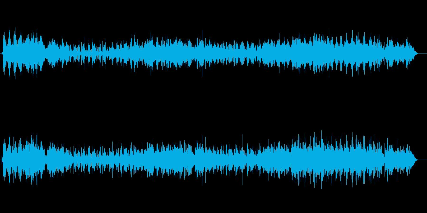 ムーディーで心温まるピアノ・メロディーの再生済みの波形