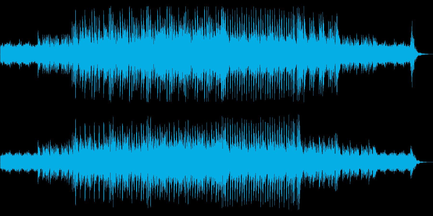 シンセとピアノのEDMの再生済みの波形