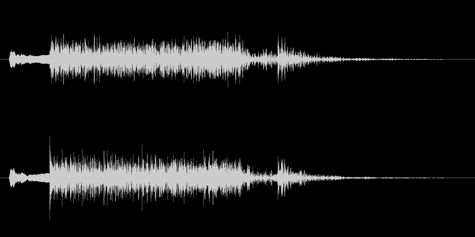 尺八、太鼓、勢いのある和風サウンドロゴの未再生の波形