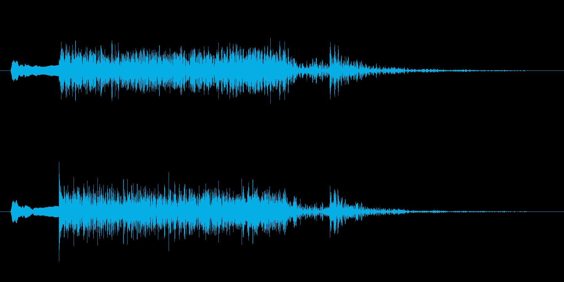 尺八、太鼓、勢いのある和風サウンドロゴの再生済みの波形