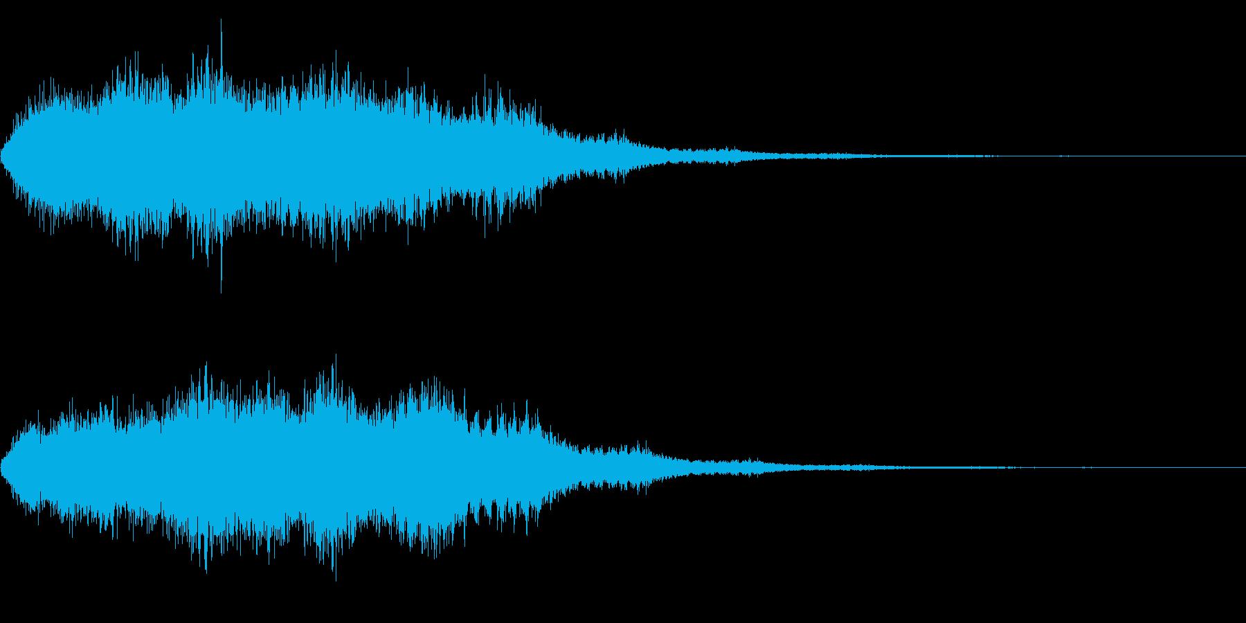 飛行機などが飛んでいる音の再生済みの波形
