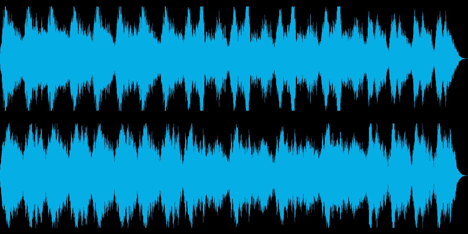 ホラー向け ミステリアスなストリングスの再生済みの波形