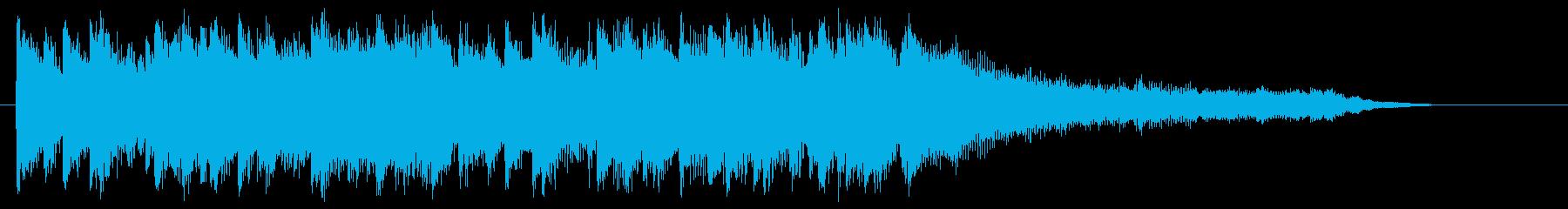 軽快、パワフルなアコースティックロゴの再生済みの波形