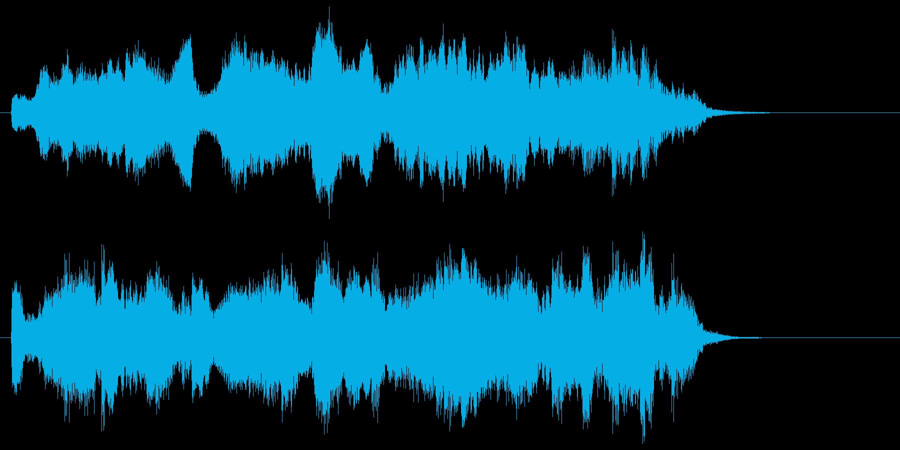 ゆったりとマイルドなクラシカルジングルの再生済みの波形
