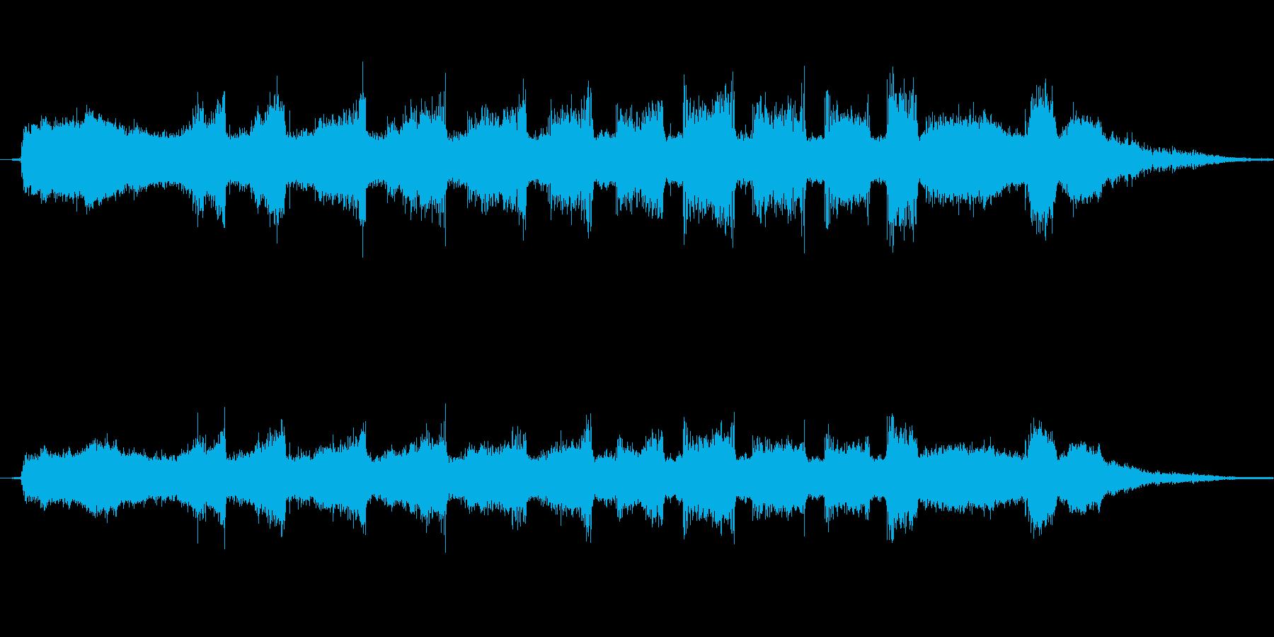 グラインダを使って削る音1の再生済みの波形