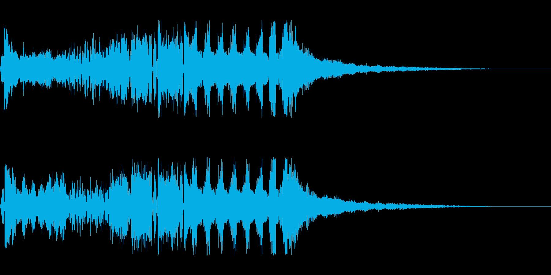 【DJジングル・EDM】オープニングBの再生済みの波形