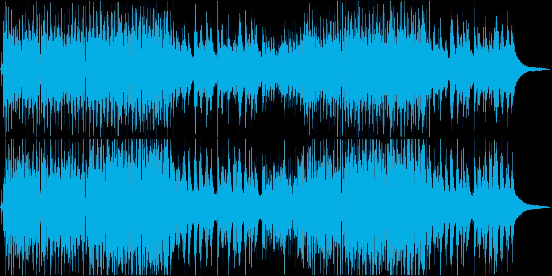 ジャズ風のピアノが映えるBGMの再生済みの波形