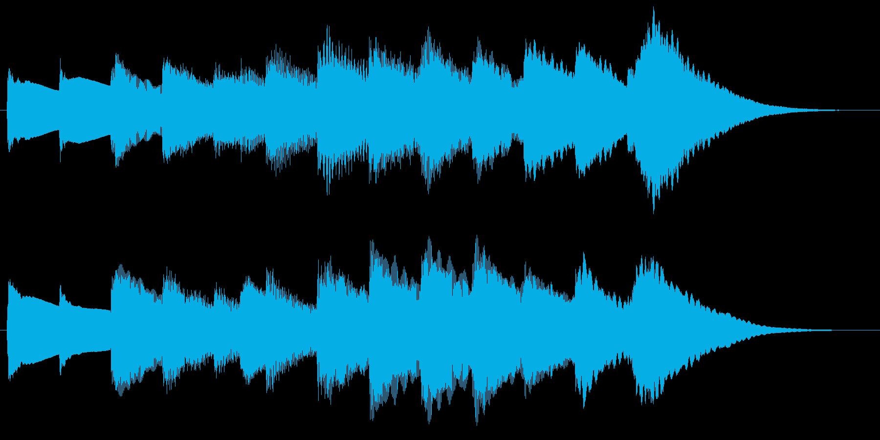 子守歌のようなサウンドロゴの再生済みの波形