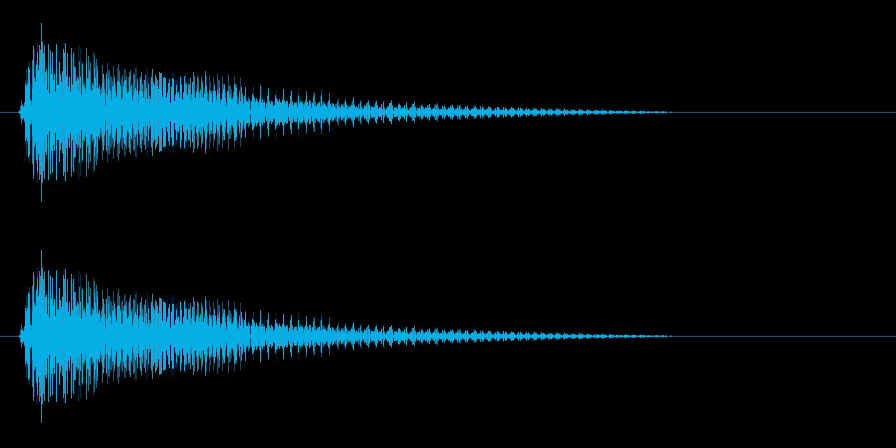ピョロン電子音効果音の再生済みの波形