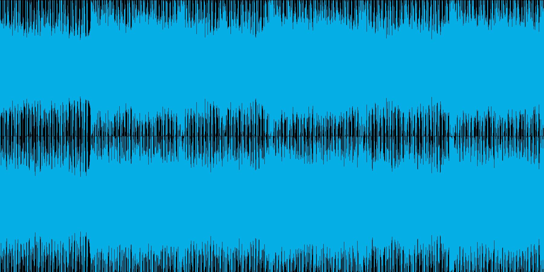 ノスタルジックなチルウェーヴ風BGMの再生済みの波形