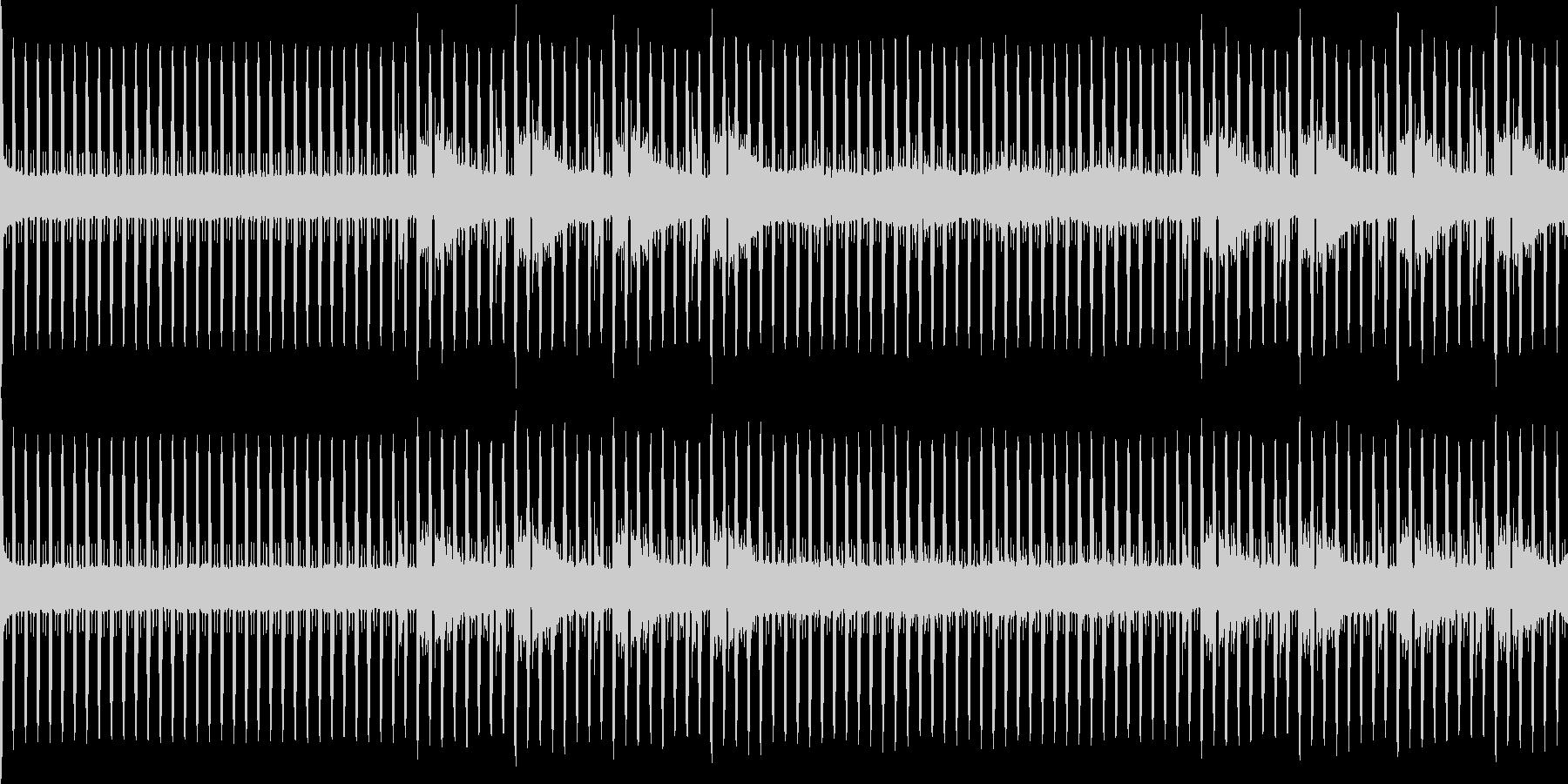 無機質なニュースBGMループの未再生の波形