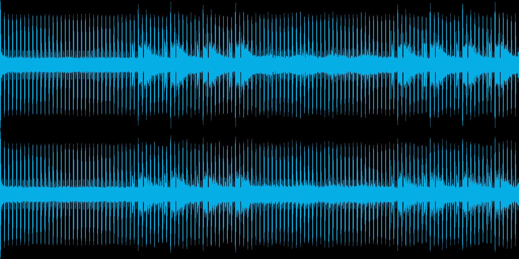 無機質なニュースBGMループの再生済みの波形