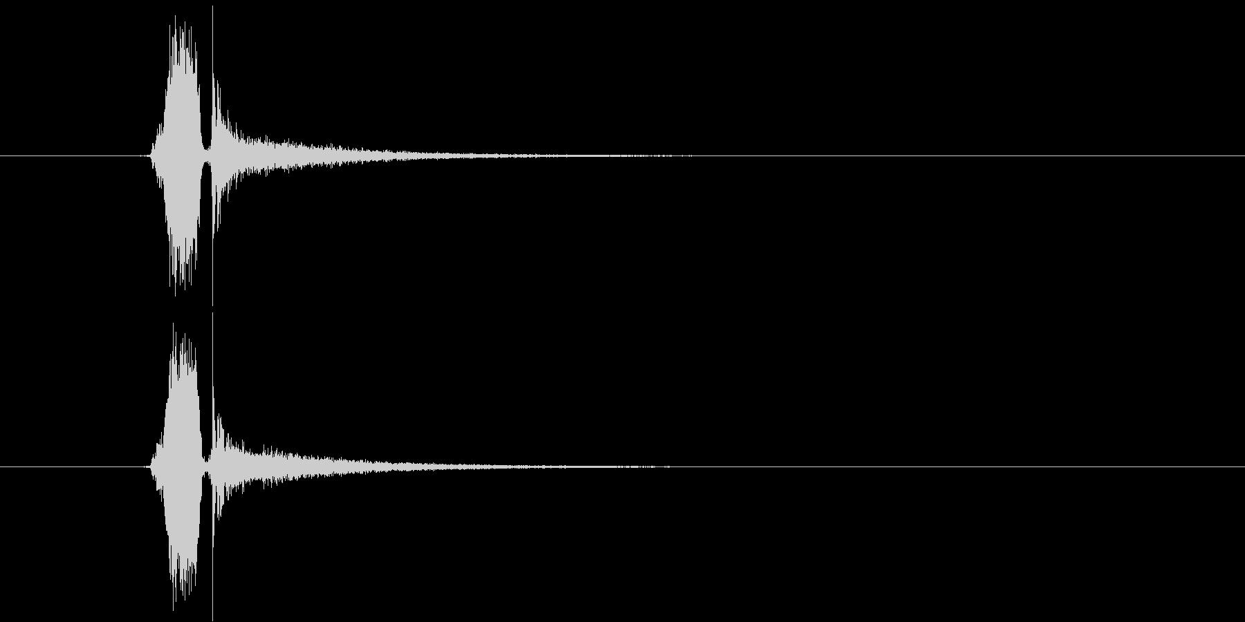 スパーン(テニス、栓抜き)の未再生の波形