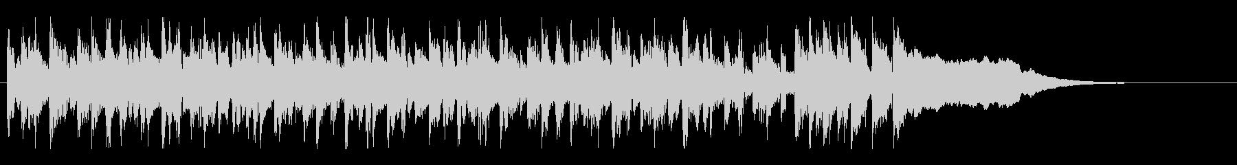 ネットラジオのオープニング曲の未再生の波形