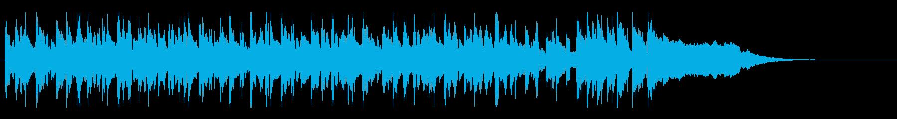 ネットラジオのオープニング曲の再生済みの波形