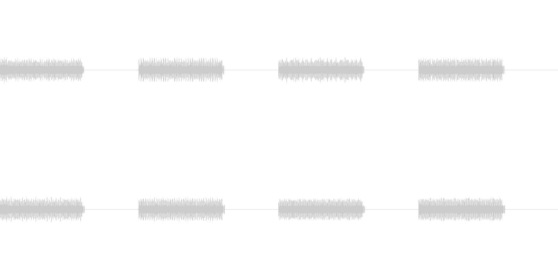 昔のゲーム風の音の未再生の波形